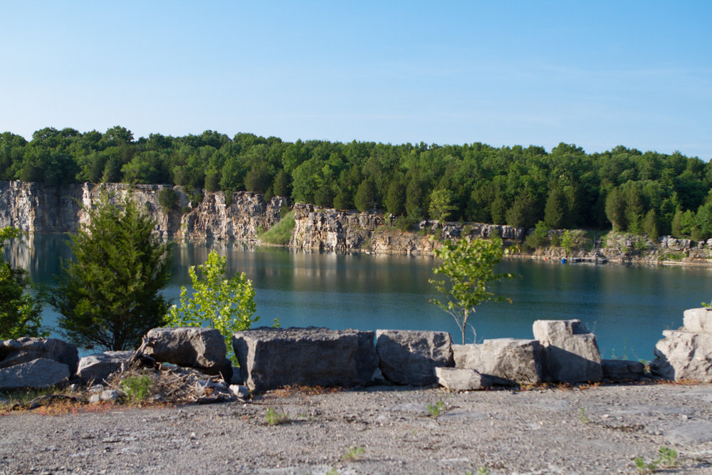 This gorgeous rock quarry is located just west of Nashville
