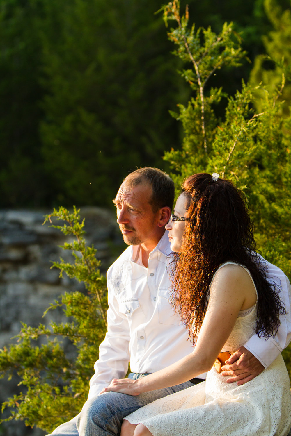 Rock Quarry Sunset Engagement Session Nashville