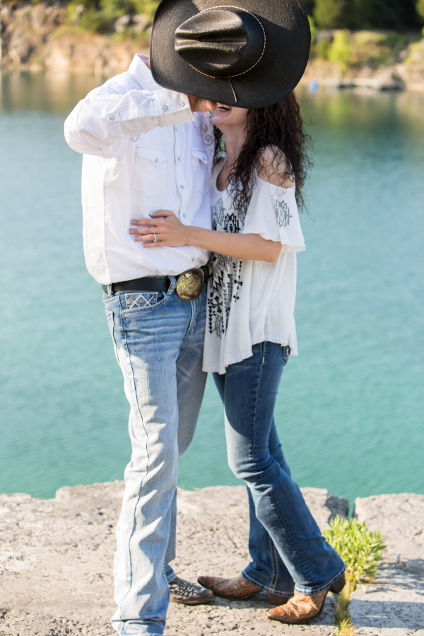 Engagement Session Nashville Rock Quarry