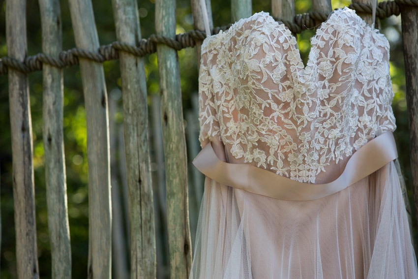 Wedding Dress hanging at Nashville Zoo