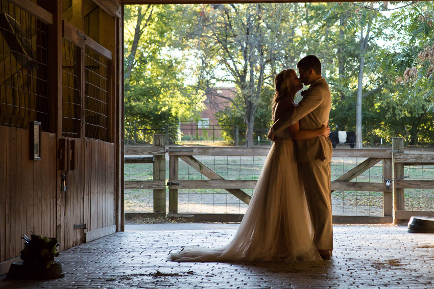The temperature was perfect and the light was amazing for their wedding day.