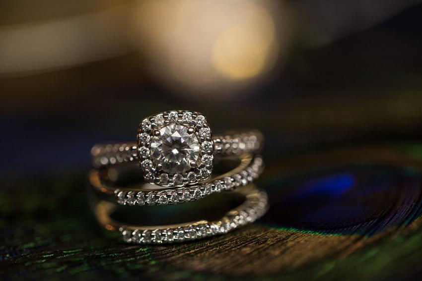 Stunning Wedding Ring Photo at reception held at Nashville Zoo