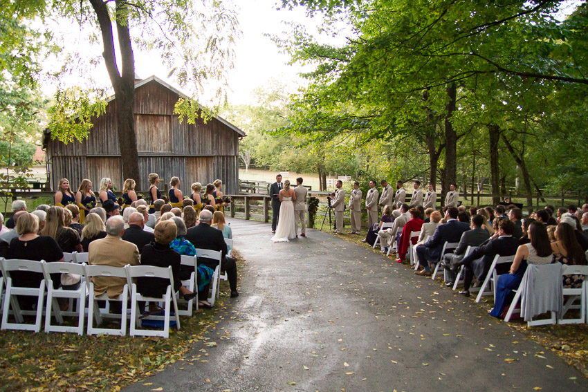 A perfect fall day for a wedding at the Nashville Zoo.
