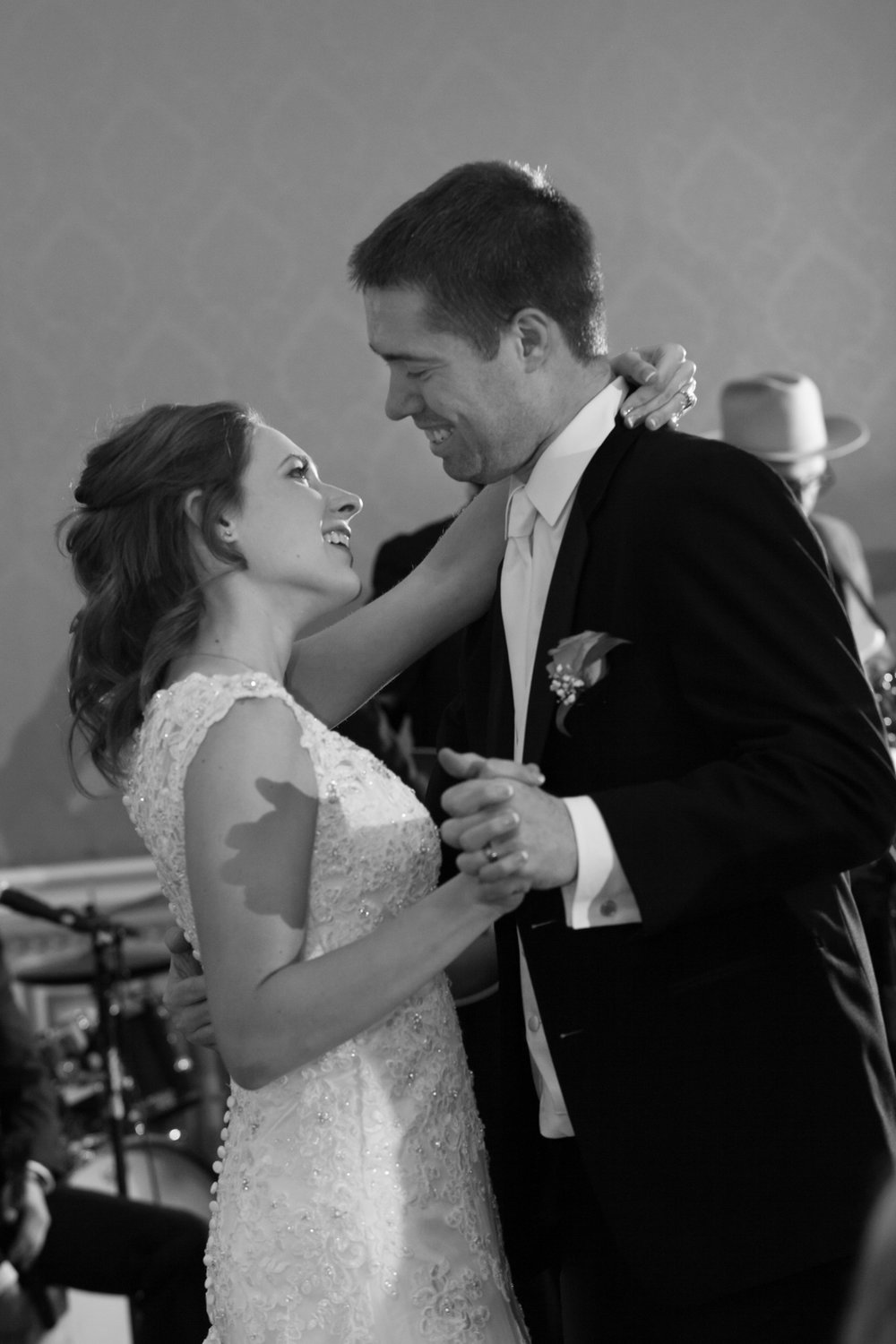 They have such a great connection.    They danced to Rewind by Rascal Flats for their first dance.