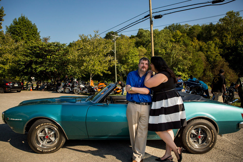 Christina and Matt with this amazing vintage Firebird! Perfect :)