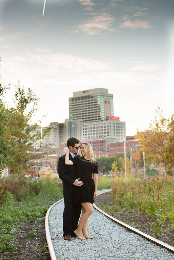 Riverfront park in Nashville was the second location for their engagement session.  The weather was perfect!
