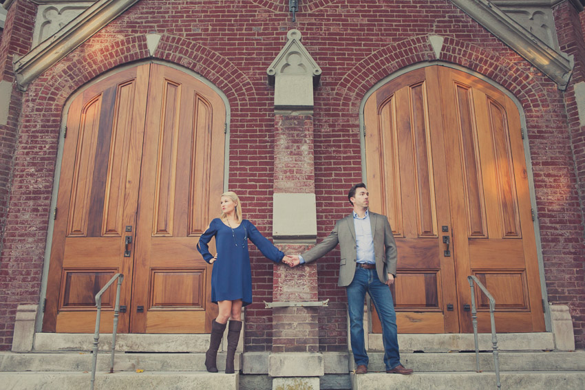 Franklin has so many cute locations for engagement photos.