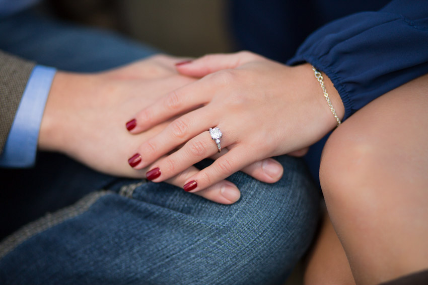Natalie your engagement ring is beautiful!