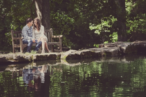 Springtime Engagement Session at Cheekwood Gardens