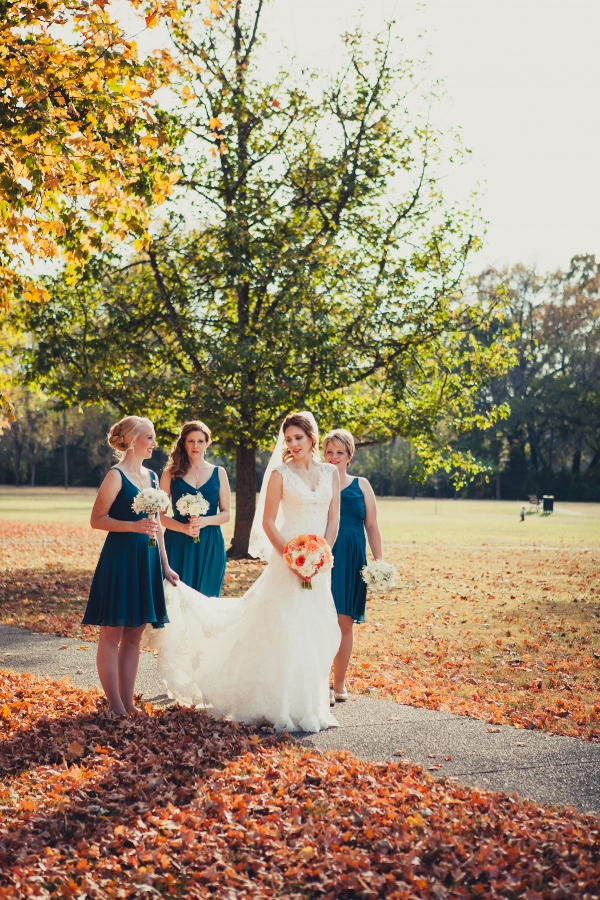 Bride with Bridesmaids Oaklands Mansion Photographers