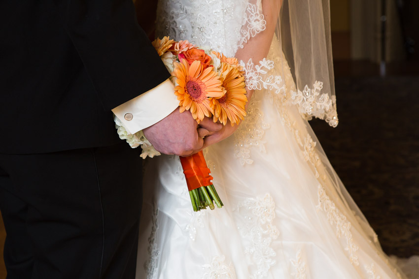 The wedding colors were perfect for this gorgeous fall wedding.