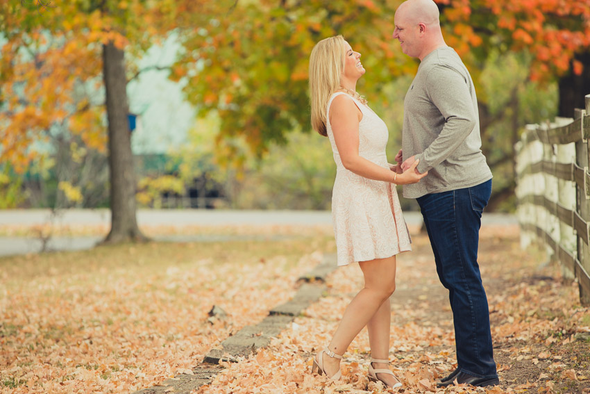 The color and the leaves were amazing for this engagement session!