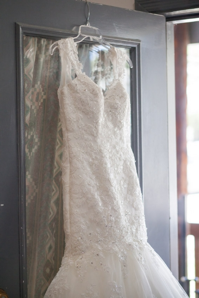 The detail on Shanna's wedding dress was so beautiful