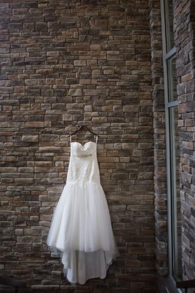This custom designed wedding dress was just perfect!