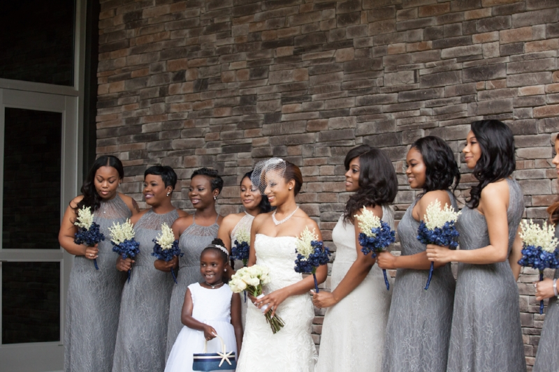 Bridal Party Outside Image
