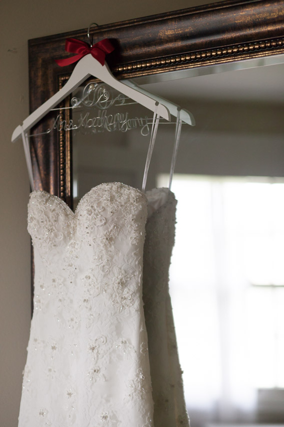 What a stunning wedding dress to celebrate becoming Mrs. Matheny