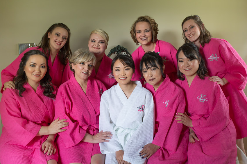 We love the pink and the matching robes!