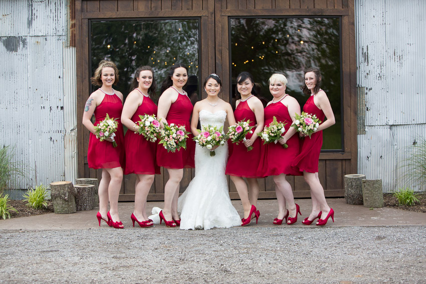 Bridesmaids-and-Bride-Red-Dress-The-Grove-At-Williamson-Place.jpg