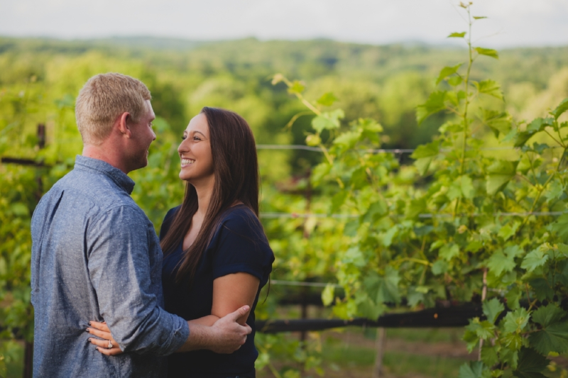 Haley and Jared - Arrington Vineyards
