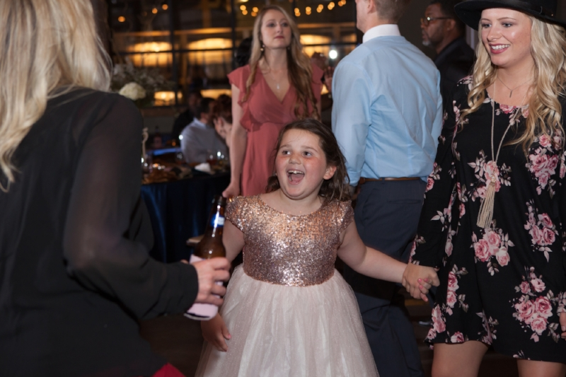 flower girl having fun