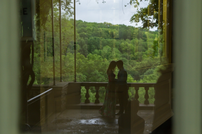 The gardens at Cheekwood in Nashville are such a romantic location for an engagement session.