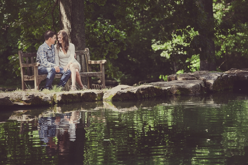 We told these two to just be themselves and what a beautiful photo!  Cheekwood Gardens has so many beautiful and romantic locations for photos.
