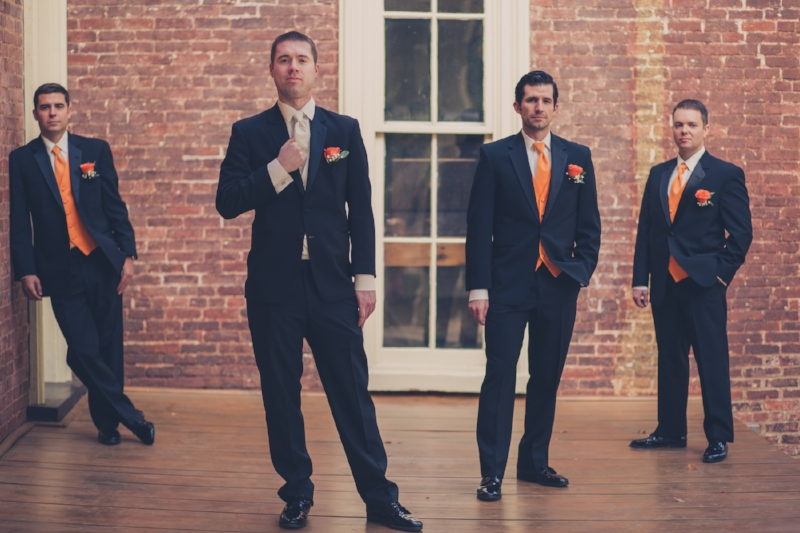Groom and Groomsmen Oaklands Mansion