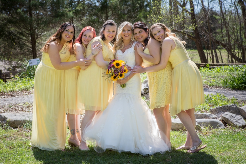 gorgeous yellow bridesmaids dresses