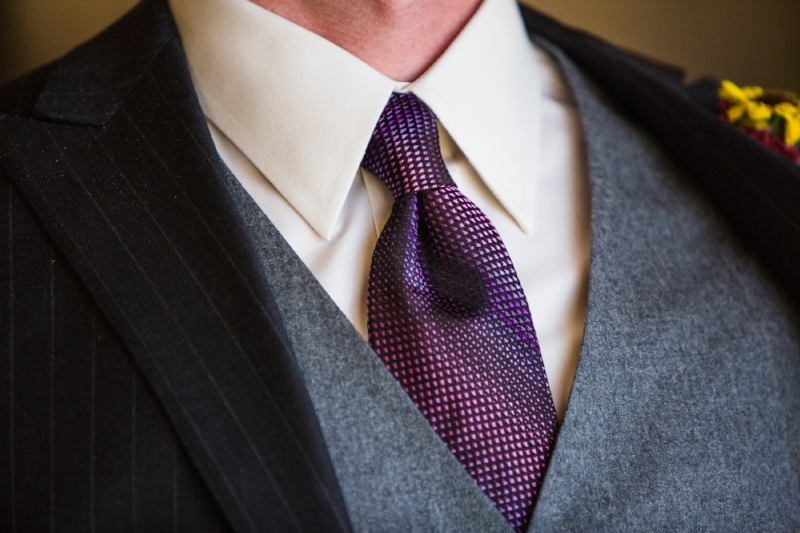 Grooms spring wedding tie