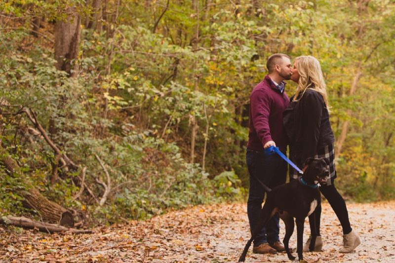 Such a beautiful engagement session location!