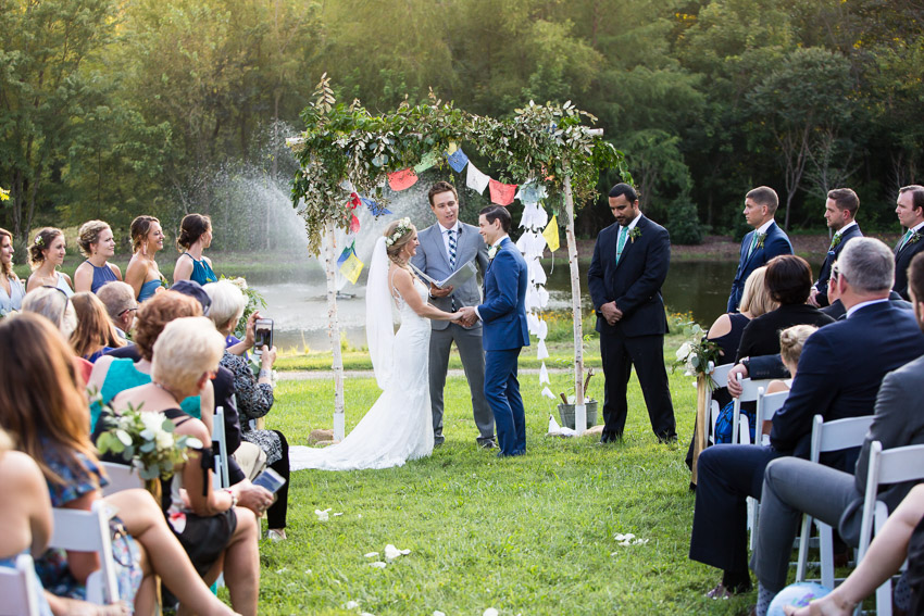 The gorgeous lakeside ceremony location at Homestead Manor