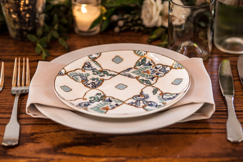Wedding China Table Setting