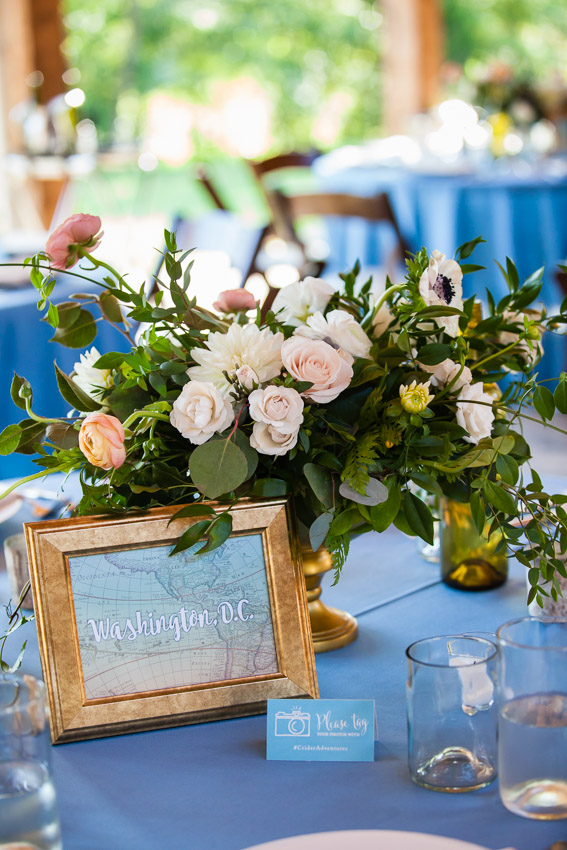 Wedding Table Floral Centerpiece