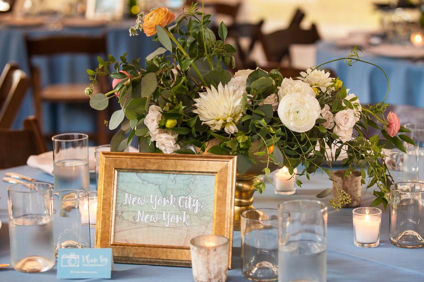 Fresh Floral wedding centerpiece