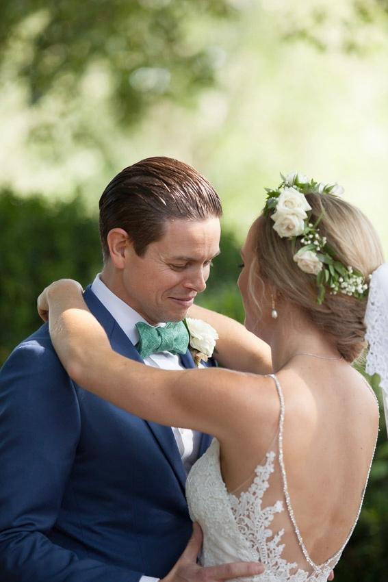 Sweet groom reaction on seeing bride