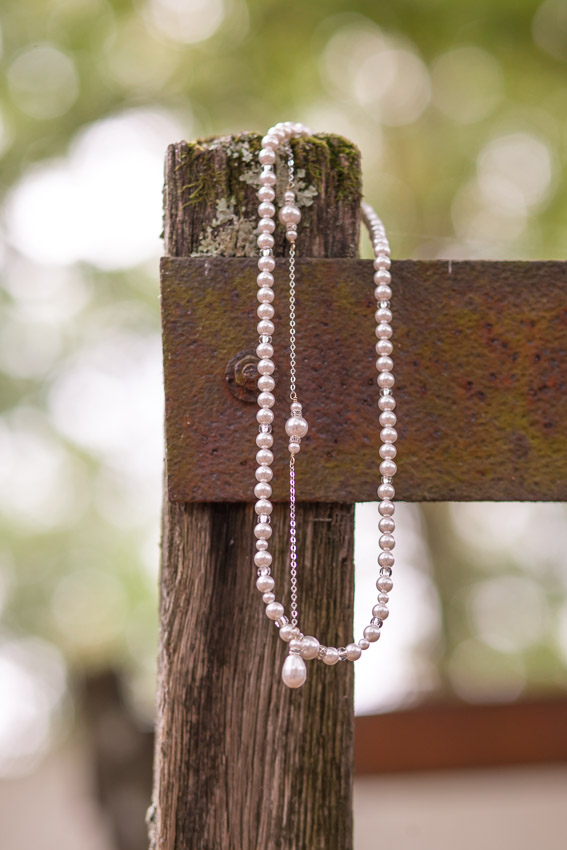 Wedding Necklace with a drop back