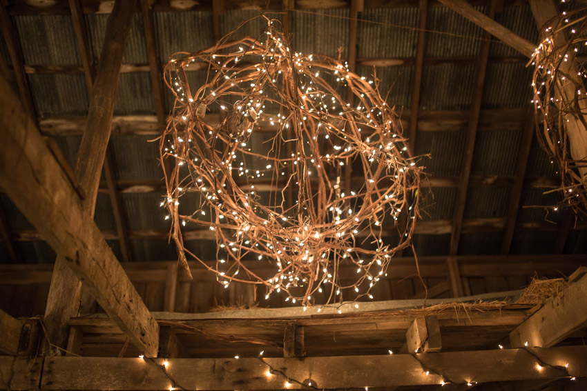 These gorgeous lighted orbs were made for the wedding.