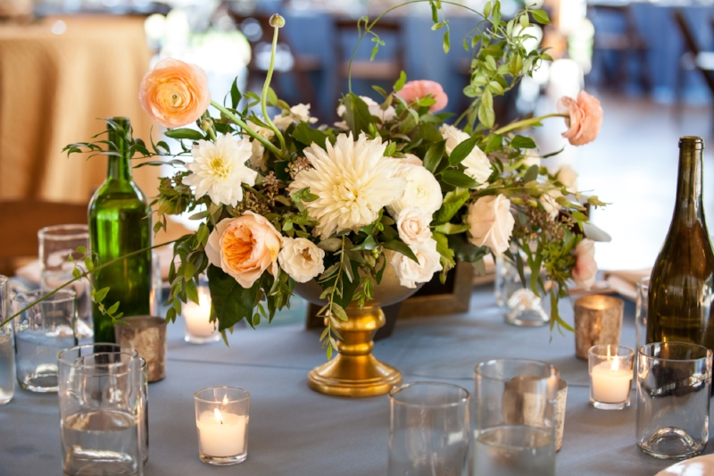 Table Centerpiece by  Vintage Florals