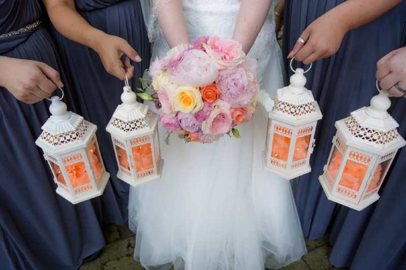 Bouquet by  Rebel Hill Florist.     Lanterns by Bride :)