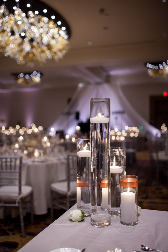 floating candles wedding reception