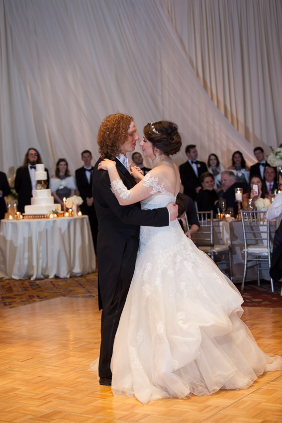 Bride and Groom first dance at wedding reception at Westin in Nashville Tennessee
