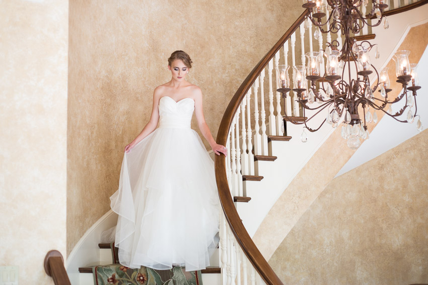 The Estate at Cherokee Dock has the most gorgeous staircase for your grand wedding day entrance