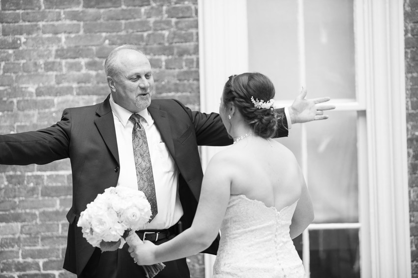 First Look with Dad! So sweet!