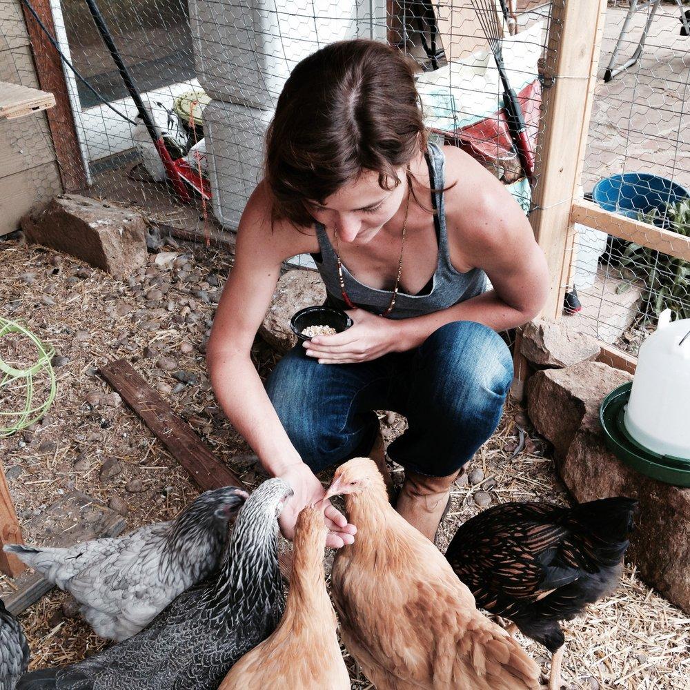 B Caitlin Feeding Chickens.jpg