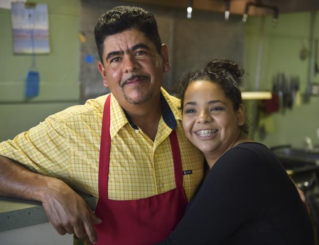 """Business can be slow, but it's growing fast. I've heard that the first year is always the hardest,"" Yahaira Payan says of her father Benny's business, Benny's tacos. (  Lewis Geyer / Staff Photographer  )"