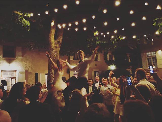 I'd say the general mood this weekend was... exuberant. Did I mention I have the best job? . . . . #wedding #love #frenchwedding #destinationwedding #gerswedding #weddinginfrance #lartigollelove #weddingdj #vintagevinyl #vinyldj #frenchweddingstyle #ido #instawedding