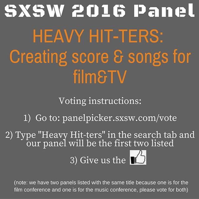 VOTE TODAY for a chance to win #goodkarma!! #sxswpanelpicker #sxsw2016 #sxswmusic #sxswfilm  http://panelpicker.sxsw.com/vote/47264 http://panelpicker.sxsw.com/vote/48860