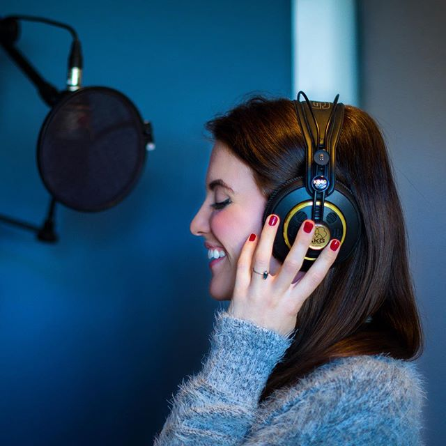 **Sneak Peek** The fabulous @musicby_grey at our #lastudio recording the theme song for a foreign #featurefilm we just finished working on! Stay tuned for more info! #sneakpeek #foreignfilm #filmcomposer #filmscore #soundtrack #recordingstudio