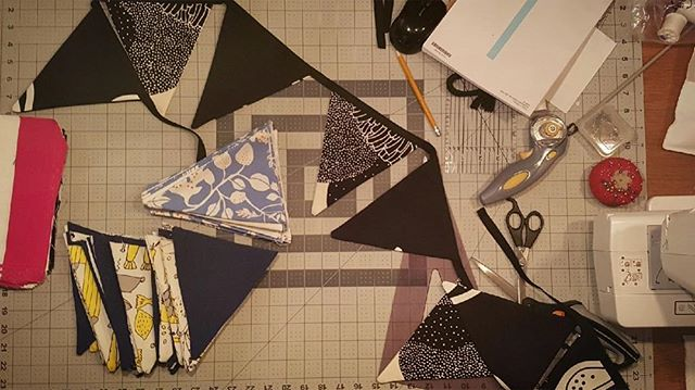 Sunday night #bunting party.