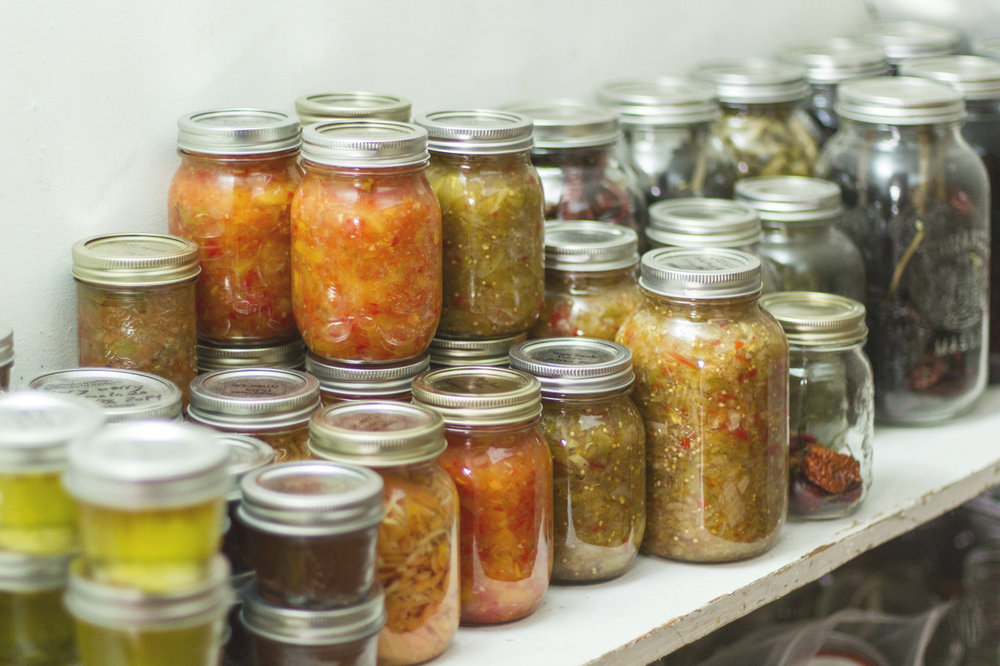 The canning cupboard is officially stocked for the winter.